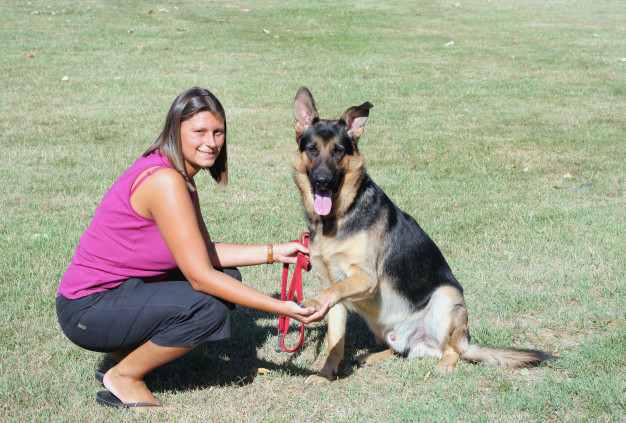 woman-her-german-shepherd-dog