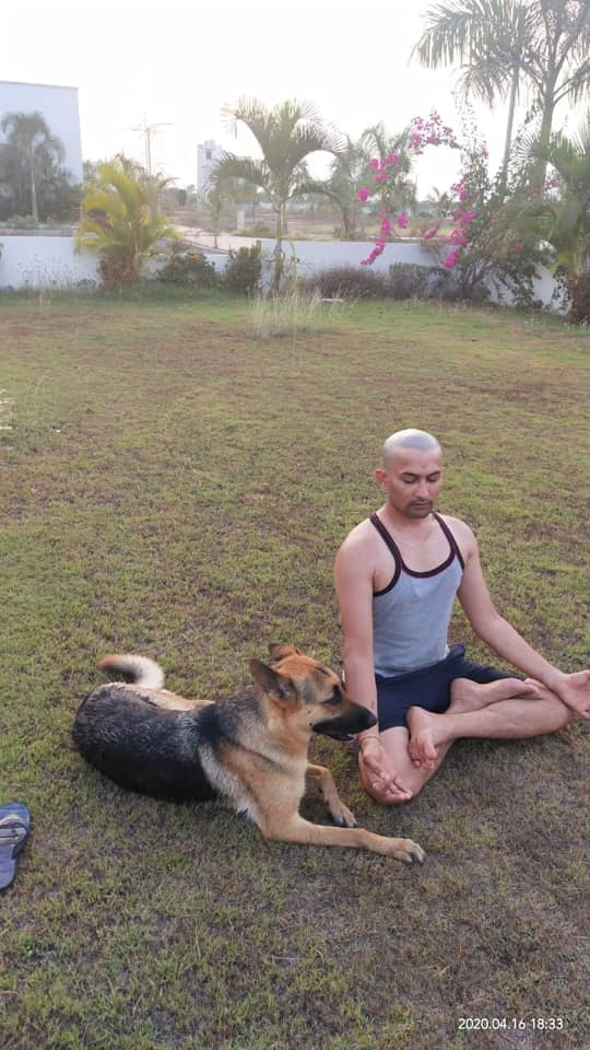 Ruby GSD Surat Kuldeep yoga in garden